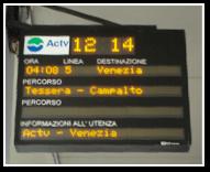 Buses departure board