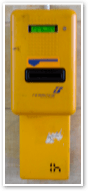 Yellow ticket validation machines